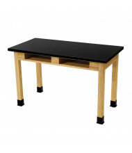 """NPS 30"""" H Chemical Resistant Book Compartment Science Lab Table"""