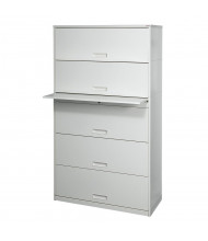 "Datum Stak-N-Lok 200 Series 5-Drawer 36"" Wide Open Shelf Lateral File Cabinet, Legal (Shown in Light Grey)"