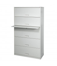 "Datum Stak-N-Lok 200 Series 5-Drawer 36"" Wide Open Shelf Lateral File Cabinet, Letter (Shown in Light Grey)"