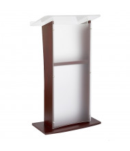 Amplivox Wood & Acrylic Floor Lectern, (Shown in Frosted Acrylic / Mahogany)