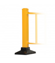 "Vestil 39"" H Semi-Permanent Barrier Post with Base, Yellow SPR-POST-Y"