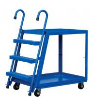 Vestil Spring Loaded 1000 lb Load Steel Stock Picker with Ladder (SPS2)