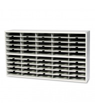 Mayline Mailflow-To-Go 50-Compartment 2-Tier Steel Mail Sorter, Grey