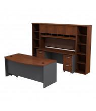Bush Series C SRC0010 Bow Front Office Desk Set (Hansen Cherry / Graphite Grey)
