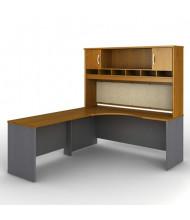 Bush Series C SRC002 L-Shaped Corner Office Desk Set, Left Return (Shown in Auburn Maple)