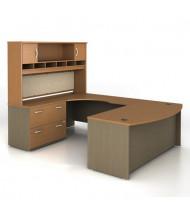 Bush Series C SRC005 U-Shaped Office Desk Set, Left Return (Shown in Auburn Maple)
