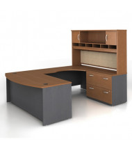 Bush Series C SRC005 U-Shaped Office Desk Set, Right Return (Auburn Maple)