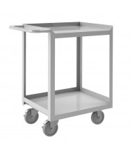 Durham Steel 1200 lb Load Stainless Steel Stock Carts (Lips on Three Sides, Two Shelves)