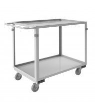 Durham Steel 600 lb Load Stainless Steel Stock Carts (2-Shelf Model)