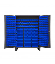 Durham Steel Bin Storage Cabinets with Legs, Hook-On Bins