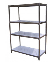 "Vestil 74"" H Stainless Steel Shelving"