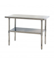 Quantum Storage 304 Stainless Steel Top Adjustable Bottom Shelf Workbench