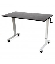 Luxor Height Adjustable Standing Desk, (Shown in Silver / Black)