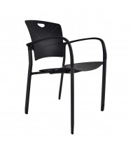 Eurotech Staq Plastic Stacking Chair, Glides (Shown in Black)