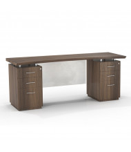 """Mayline Sterling STEC72B 72"""" W Straight Front Double Pedestal Office Desk Credenza (brown sugar)"""