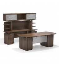 Mayline Sterling STL10 Executive Office Desk Set (Shown in Brown)