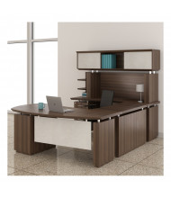 Mayline Sterling STL3 U-Shaped Executive Office Desk Set (brown sugar)