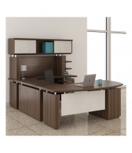 Mayline Sterling STL4 U-Shaped Executive Office Desk Set (Shown in Brown)