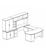Mayline Sterling STL6 U-Shaped Executive Office Desk Set