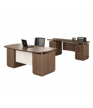 Mayline Sterling STL9 Executive Office Desk Set (Shown in Brown)
