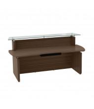 "Mayline Sterling STRC72 72"" W Reception Desk (Shown in Brown)"