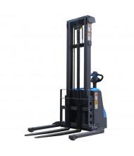 "Eoslift 118"" Lift 2646 lb Load Fully Powered Adjustable Fork Stacker"