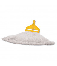Rubbermaid Finish Mop Head, White, Pack of 6
