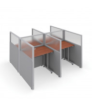 "OFM RiZe T2X2-4737 2x2 47"" H x 37"" W Privacy Station (Shown in Grey / Cherry, Translucent Window)"
