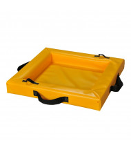 "Eagle Quik-Deploy 4"" H Flexible SpillNest Spill Containment Trays (2 ft. x 2 ft. shown)"