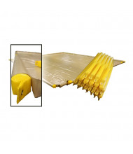 """Eagle T8200-70 70"""" L Removable Foam Replacement Log for Berms (shown as set and in berm)"""