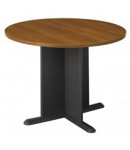 """Bush Series C 42"""" Round Conference Table (Warm Oak/Graphite Gray)"""