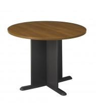 """Bush Series C 42"""" Round Conference Table (Shown in Warm Oak/Graphite Gray)"""