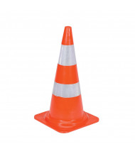 "Vestil Heavy-Duty 27.5"" H Reflective PVC Traffic Cone TC-28-HD-2R"
