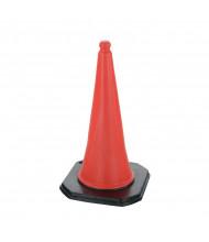 """Vestil Economy 30.75"""" H PVC Traffic Cones, 5 Per Carton TC-30"""