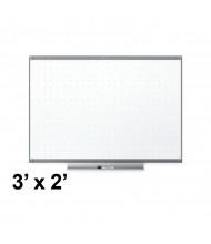 Quartet TE543GP2 Prestige 2 Total Erase 3 x 2 Graphite Frame Melamine Whiteboard