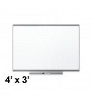 Quartet TE544GP2 Prestige 2 Total Erase 4 x 3 Graphite Frame Melamine Whiteboard