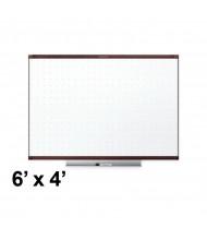 Quartet TE547MP2 Prestige 2 Total Erase 6 x 4 Mahogany Frame Melamine Whiteboard