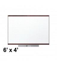 Quartet Prestige 2 Total Erase 6' x 4' Mahogany Frame Melamine Whiteboard
