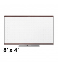 Quartet TE548MP2 Prestige 2 Total Erase 8 ft. x 4 ft. Mahogany Frame Melamine Whiteboard