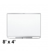 Quartet TEM548 Prestige 2 Total Erase 8 x 4 Magnetic Grid Painted Steel Whiteboard (Shown with Silver Frame)