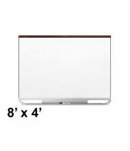 Quartet Prestige 2 Total Erase 8 x 4 Magnetic Grid Painted Steel Whiteboard (Shown with Mahogany Frame)