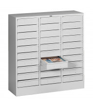 "Tennsco 30"" W 30-Drawer Letter Size Steel Organizer (Shown in Light Grey)"