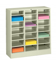 "Tennsco 30"" W 21-Compartment Letter Size Adjustable Shelf Steel Mail Sorter (Shown in Putty)"