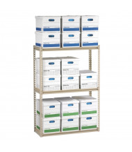 "Tennsco 60"" H 3-Shelf Record Archive Steel Open-Back Shelving Units"