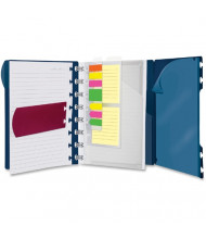 """Ampad Versa 8-1/2"""" x 11"""" 60-Sheet, Wide Rule Crossover Notebook, Navy Cover"""
