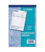 "TOPS 5-9/16"" x 7-15/16"" 50-Page 2-Part Purchase Order Book"