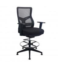 Eurotech Tempur-Pedic Mesh-Back High-Back Fabric Task Stool (Shown in Black)