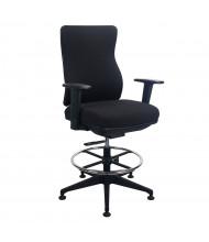 Eurotech Tempur-Pedic Fabric High-Back Task Stool (Shown in Black)