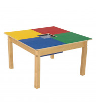 "Wood Designs Time-2-Play Lego Compatible Table with 20"" Legs, Square"