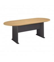 Bush Series C 7 ft Racetrack Conference Table (Light Oak/Graphite Gray)